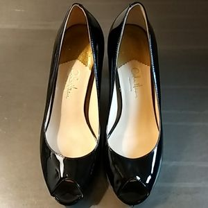 Cole Haan Nike Air Pumps Black Leather Size 7B
